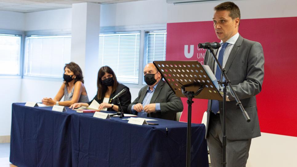 Sergio Ponsá en la inauguració del CT BETA