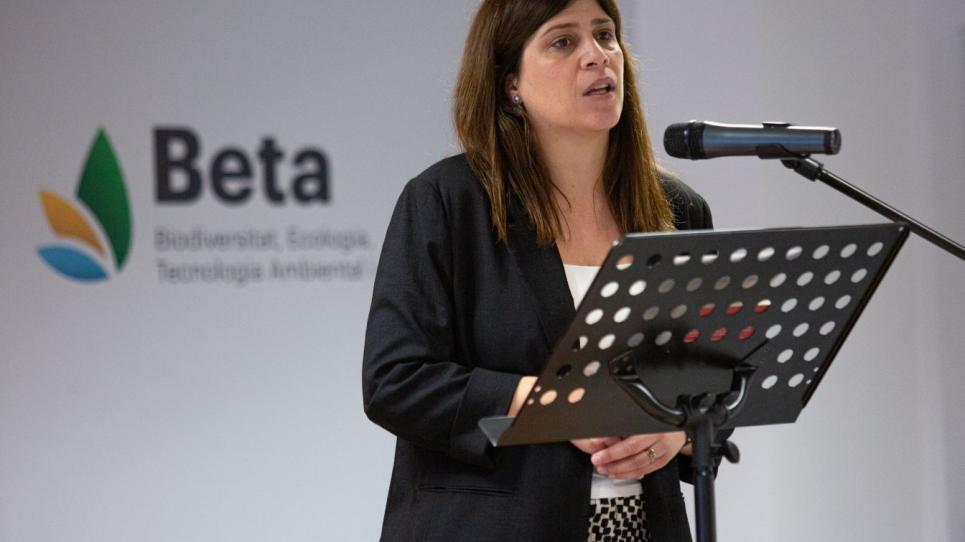 La consellera Gemma Geis en l'acte d'inauguració