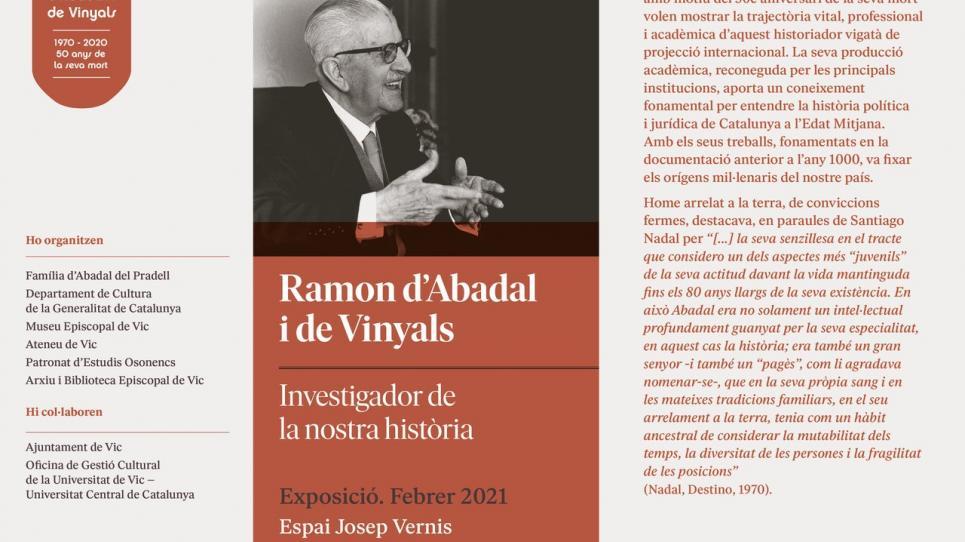 Exposició Ramon d'Abadal