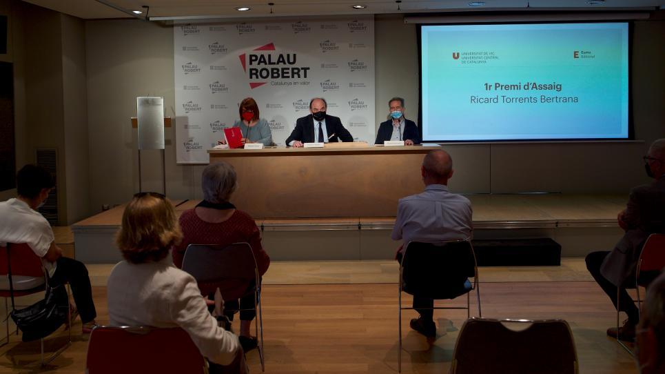 Acte de presentació del primer Premi d'Assaig Ricard Torrents i Bertrana