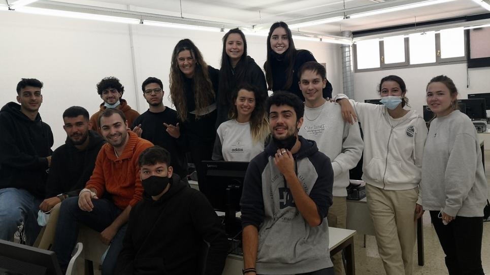 Alumnes del taller de guions de 4t curs de Comunicació Audiovisual
