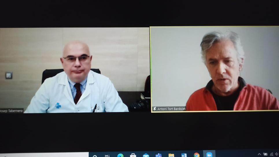 Acte de cloenda de la 2a Doctoral Training Week amb el Dr. Josep Tabernero i Antoni Tort