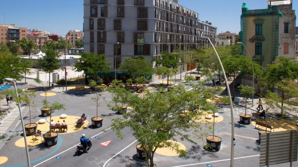 Superilla Poblenou de Barcelona