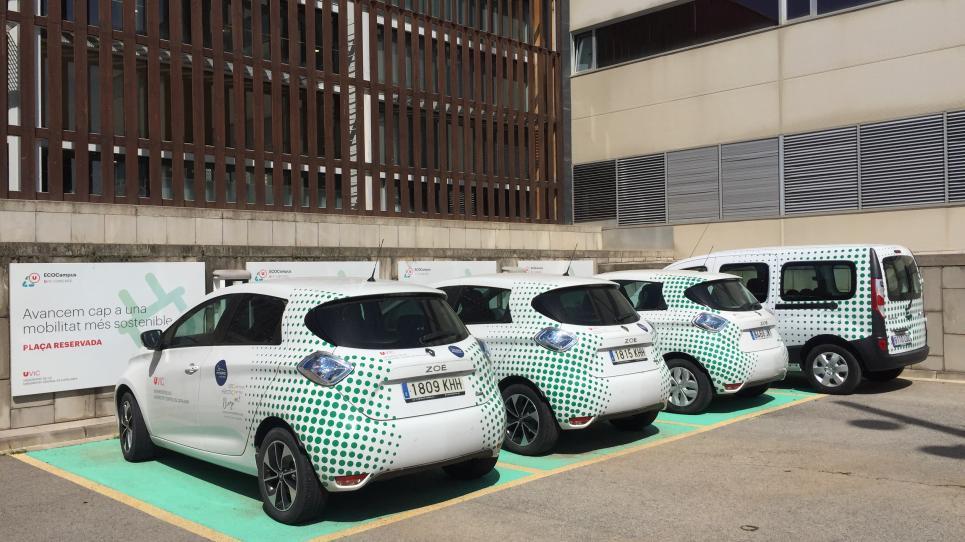 La UVic-UCC incorpora una furgoneta elèctrica a la flota de vehicles elèctrics compartits
