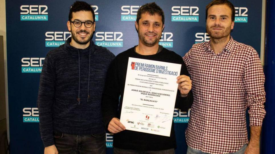 Adrià Solevila, Sique Rodríguez i Sergi Escudero