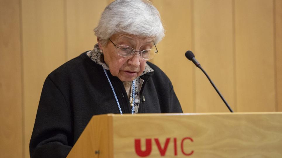M. Teresa Codina, DHC per la UVic-UCC 2018